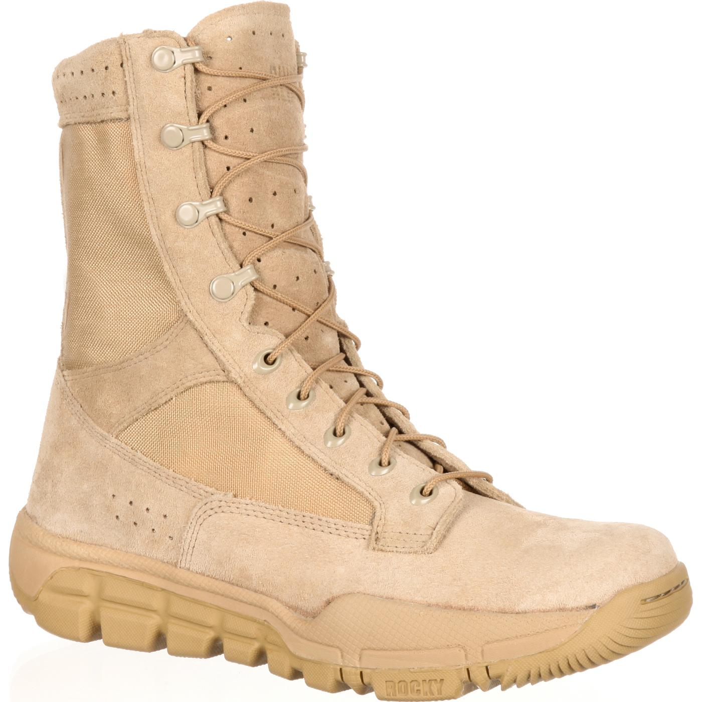 Rocky: Lightweight Coyote Brown Commercial Military Boot