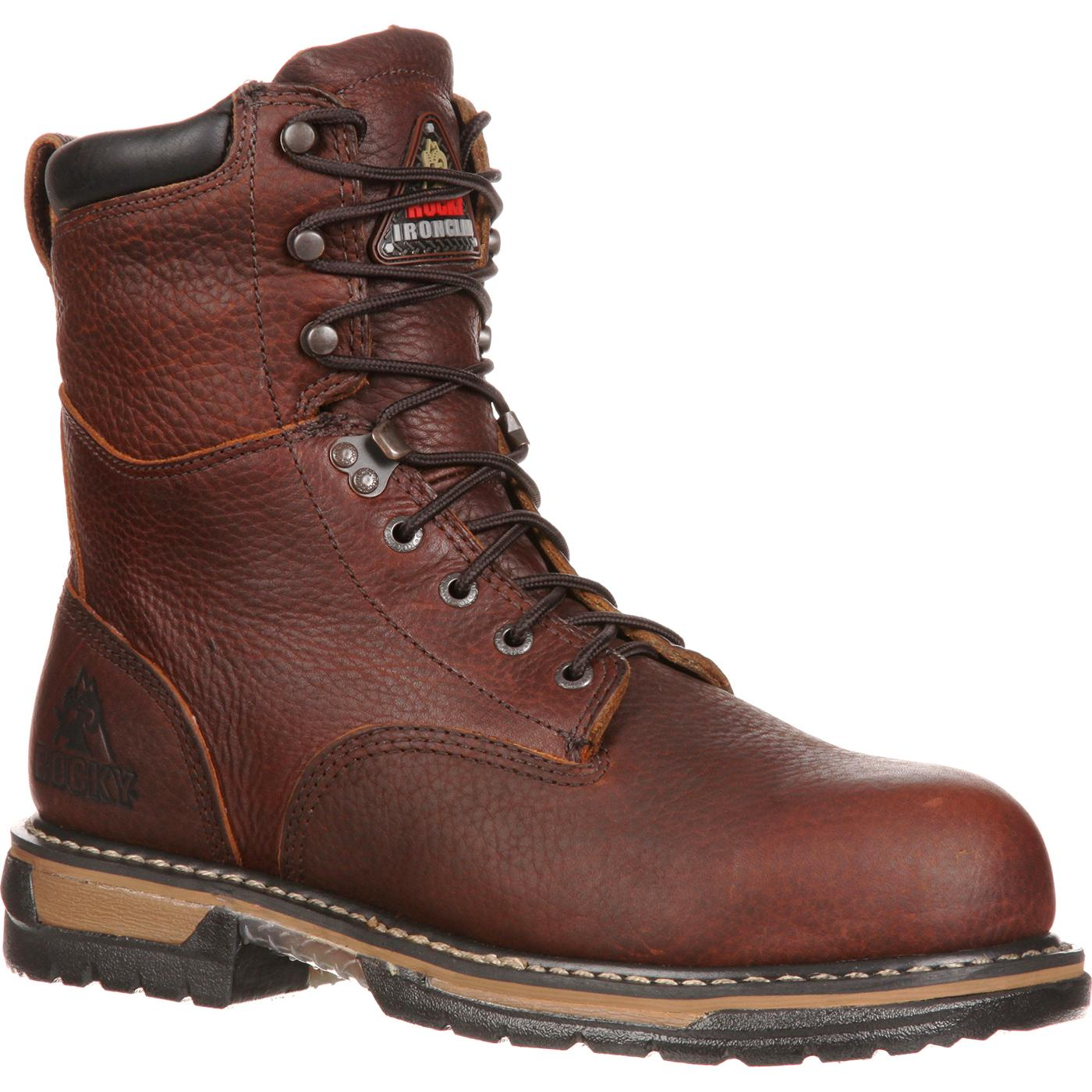 Rocky IronClad Men's Steel Toe Waterproof Work Boot, #6693