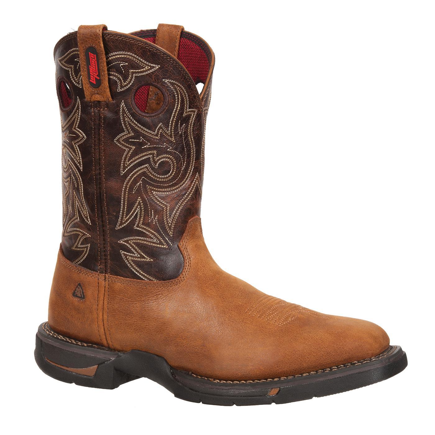 """Rocky Long Range Men's 11"""" Pull-on Square Toe Boot #FQ0008075"""
