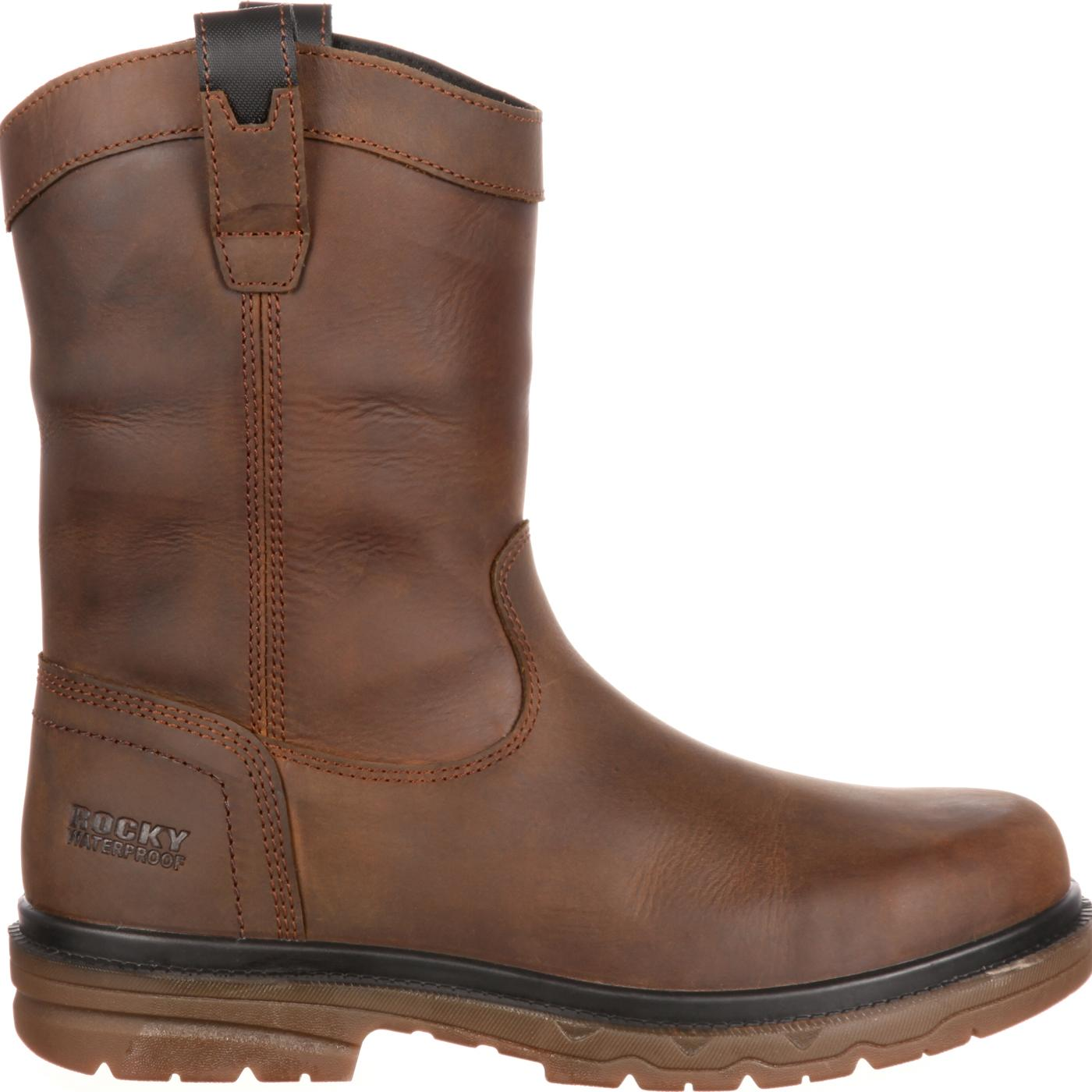Rocky Elements Shale Safety Toe Waterproof Pull-On Work Boot