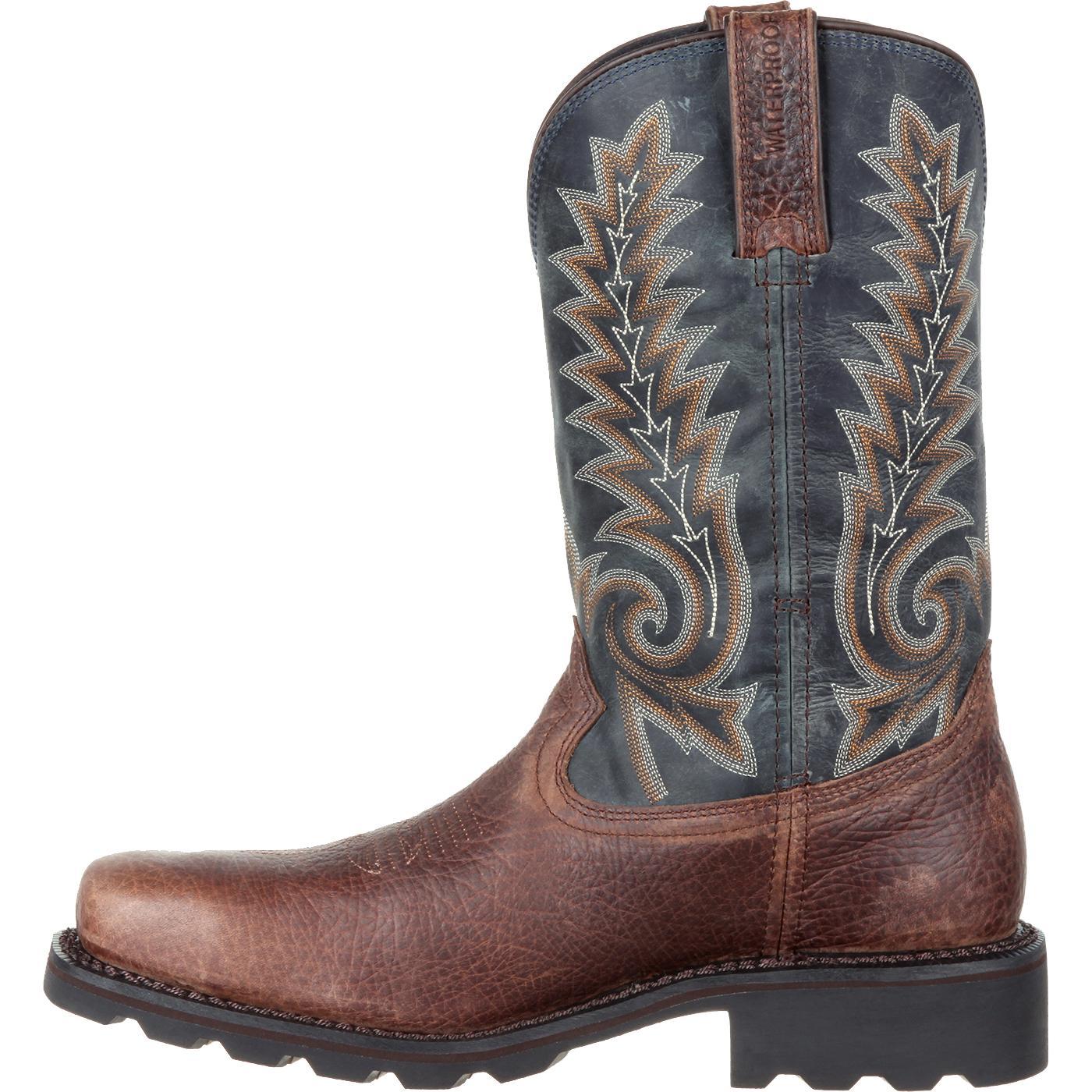 Rocky Gunnison: Men's Comfortable Steel Toe Waterproof Western Boot