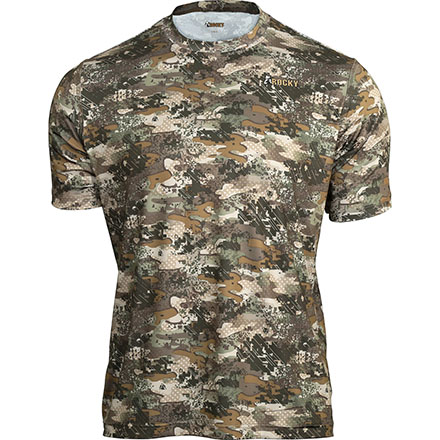 Rocky Camo Short-Sleeve Performance Tee Shirt, Rocky Venator Camo, large
