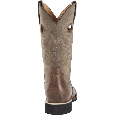 Rocky Handhewn Square Toe Western Boot