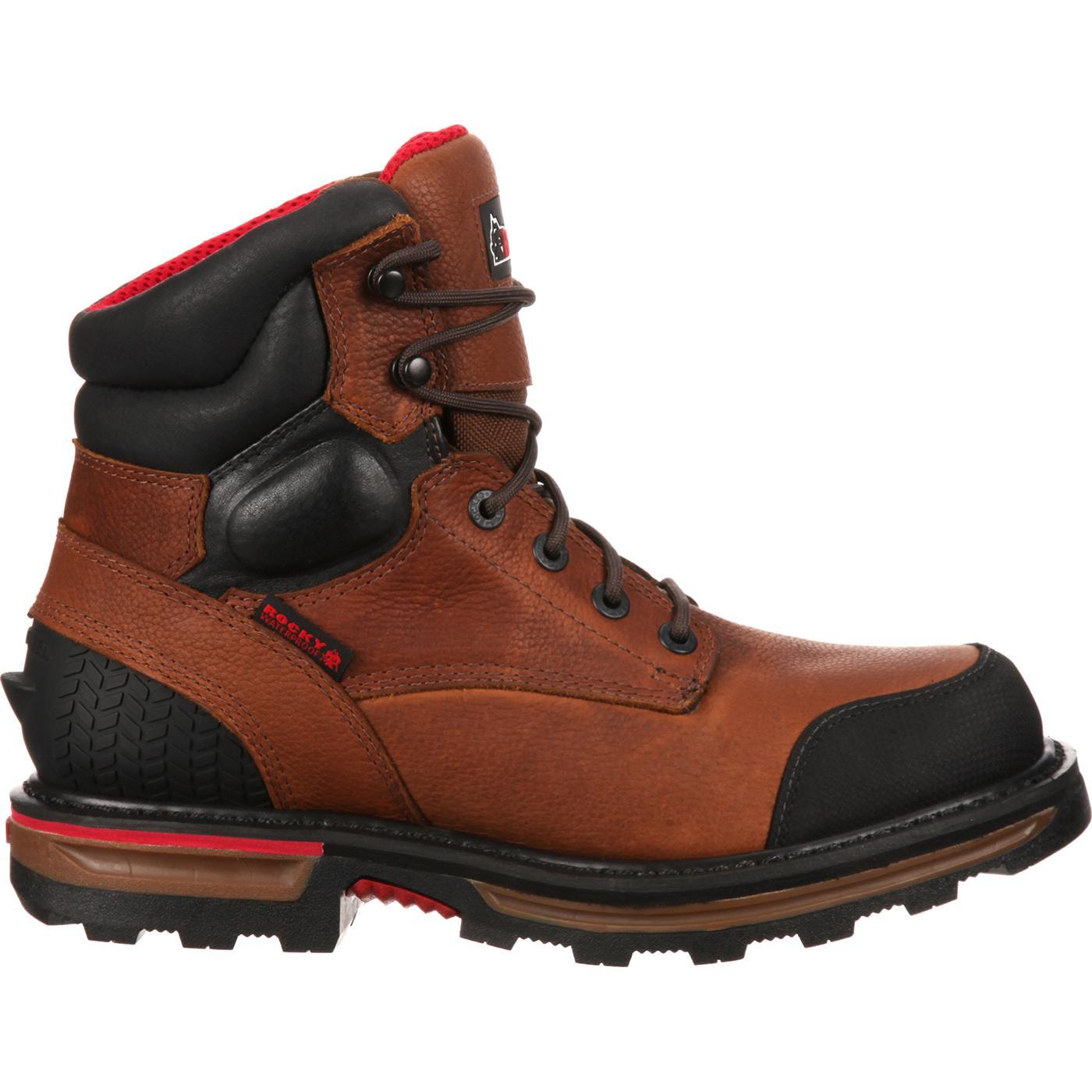 rocky elements dirt steel toe waterproof work boot rkyk074