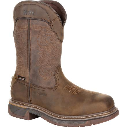 Rocky Iron Skull Composite Toe Internal Met Guard Waterproof Western Boot