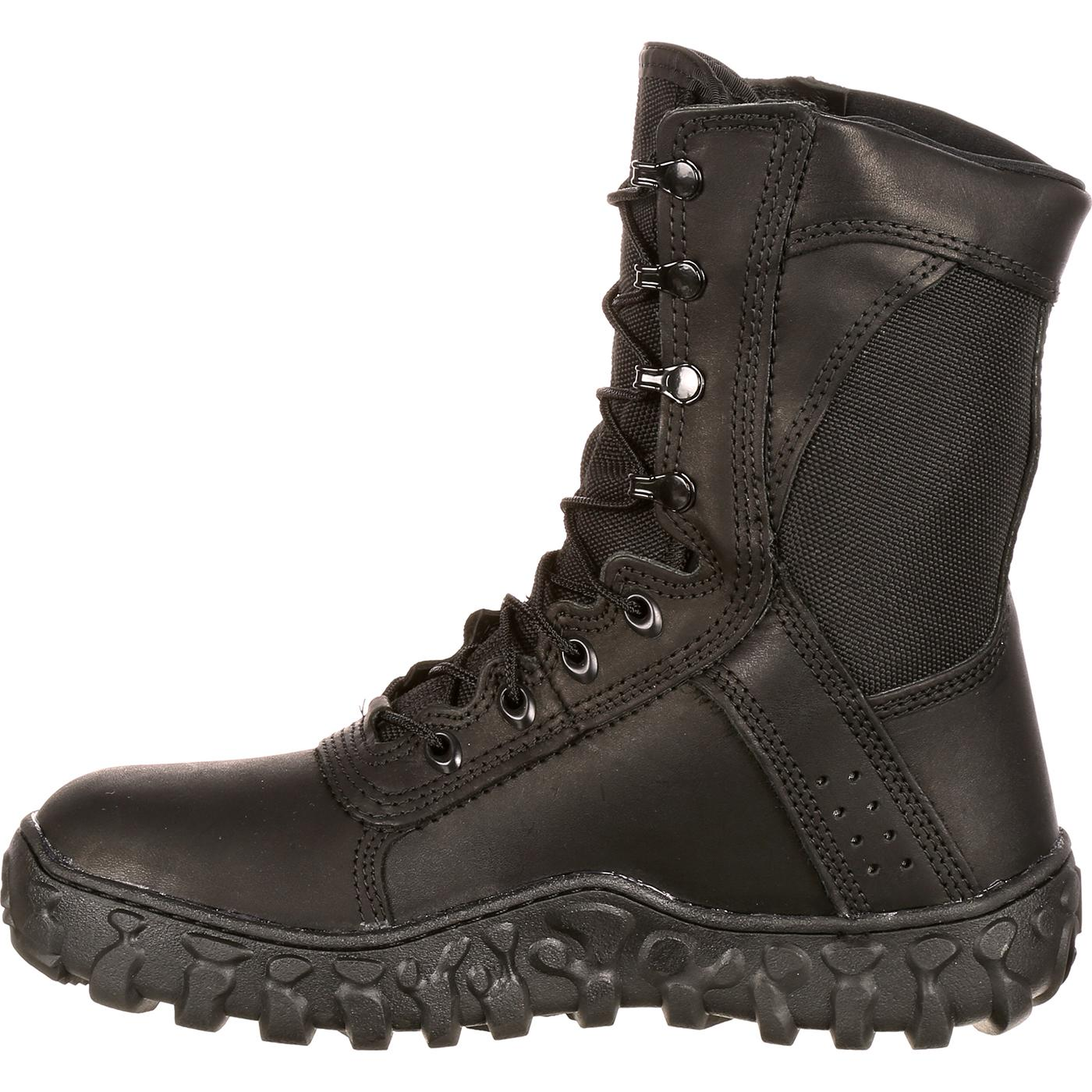 Rocky S2V American-Made Black Military Boots, FQ0000102