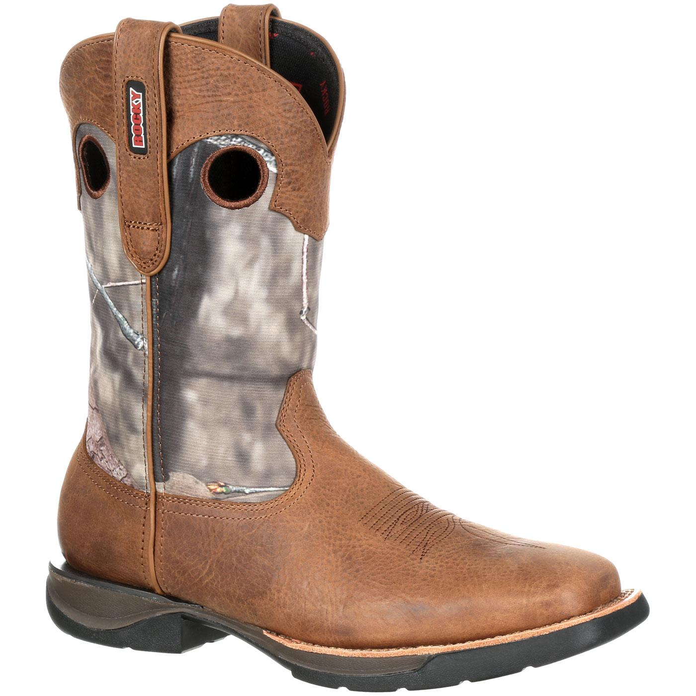 Rocky LT: Men's Lightweight Waterproof Camo Western Boots