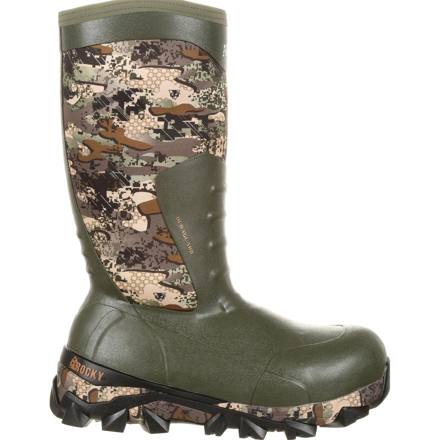 Rocky Claw Rubber Waterproof 1200g Insulated Boot Rks0329
