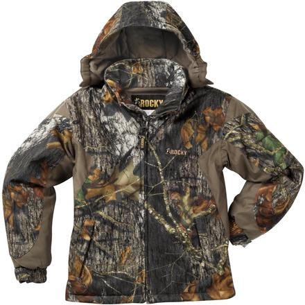 Rocky Junior ProHunter Waterproof Insulated Hooded Jacket, Mossy Oak Break Up Infinity, large