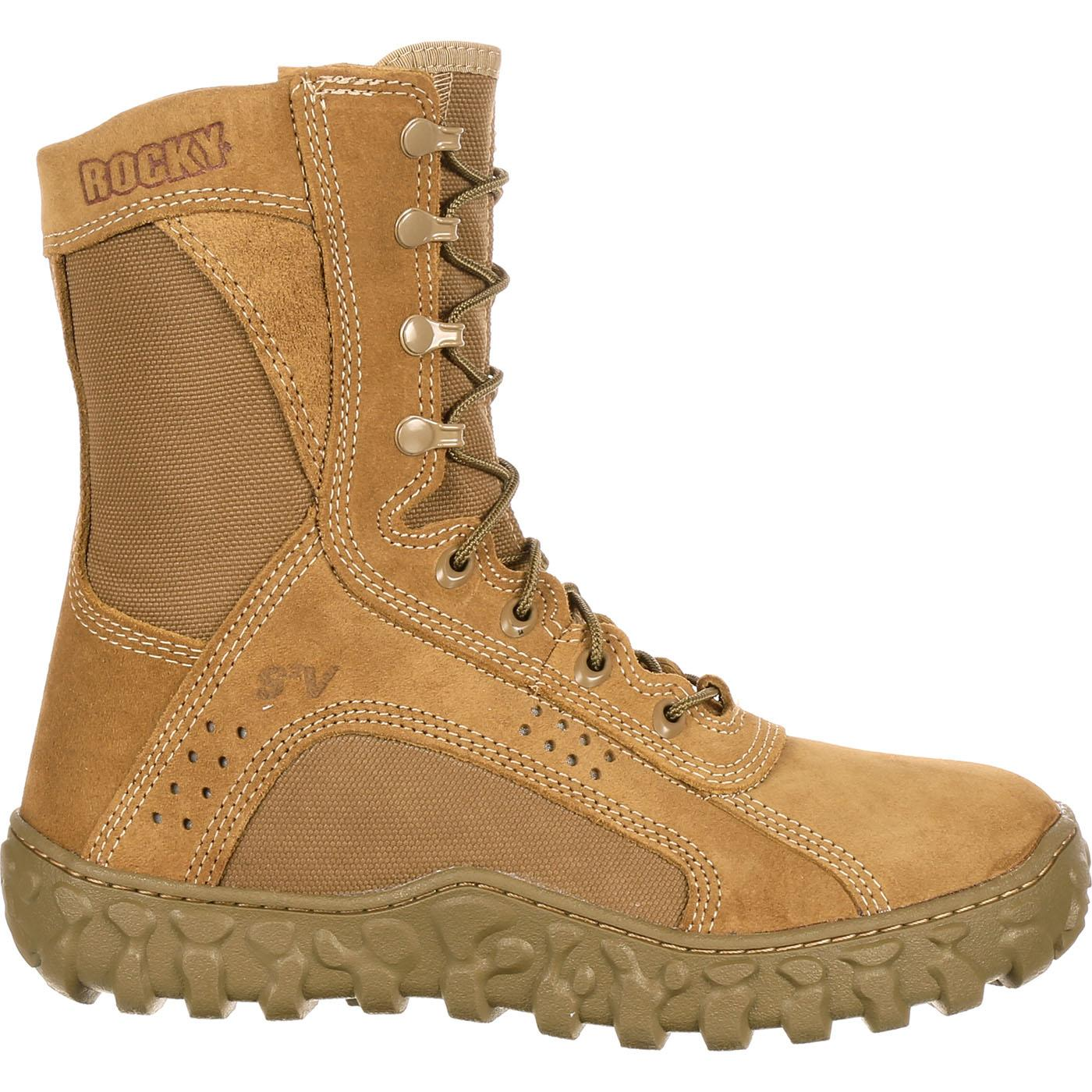 Rocky S2v Military Duty Boot Coyote Brown Fq0000104