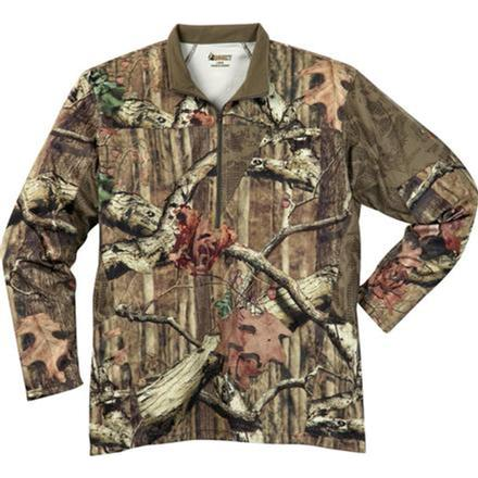 Rocky SilentHunter 1/4 Zip Shirt, Mossy Oak Break Up Infinity, large