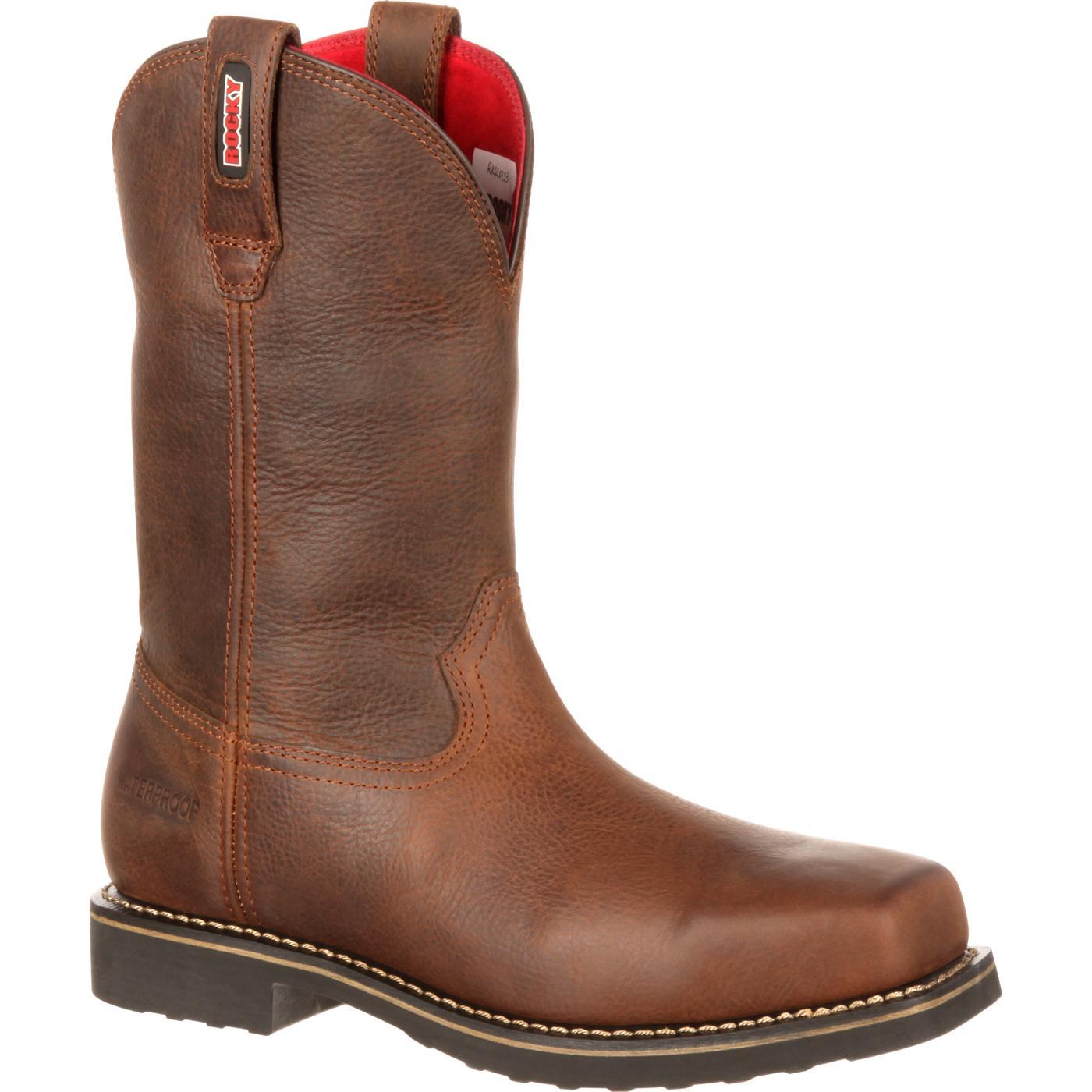 boots justin briar comfortable lace steel roper pitstop s comfort comforter double st work up toe men