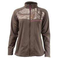 Rocky Women's Full Zip Fleece Jacket, DARK BROWN, medium