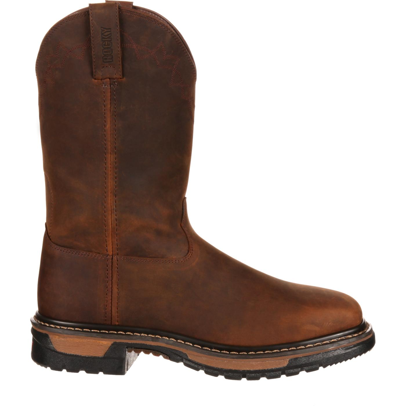 Rocky Original Ride Steel Toe Comfort Western Boot, RKW0117