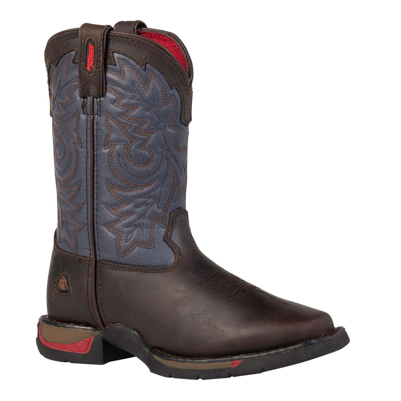 Rocky Long Range Kid's Square-Toe Western Boots