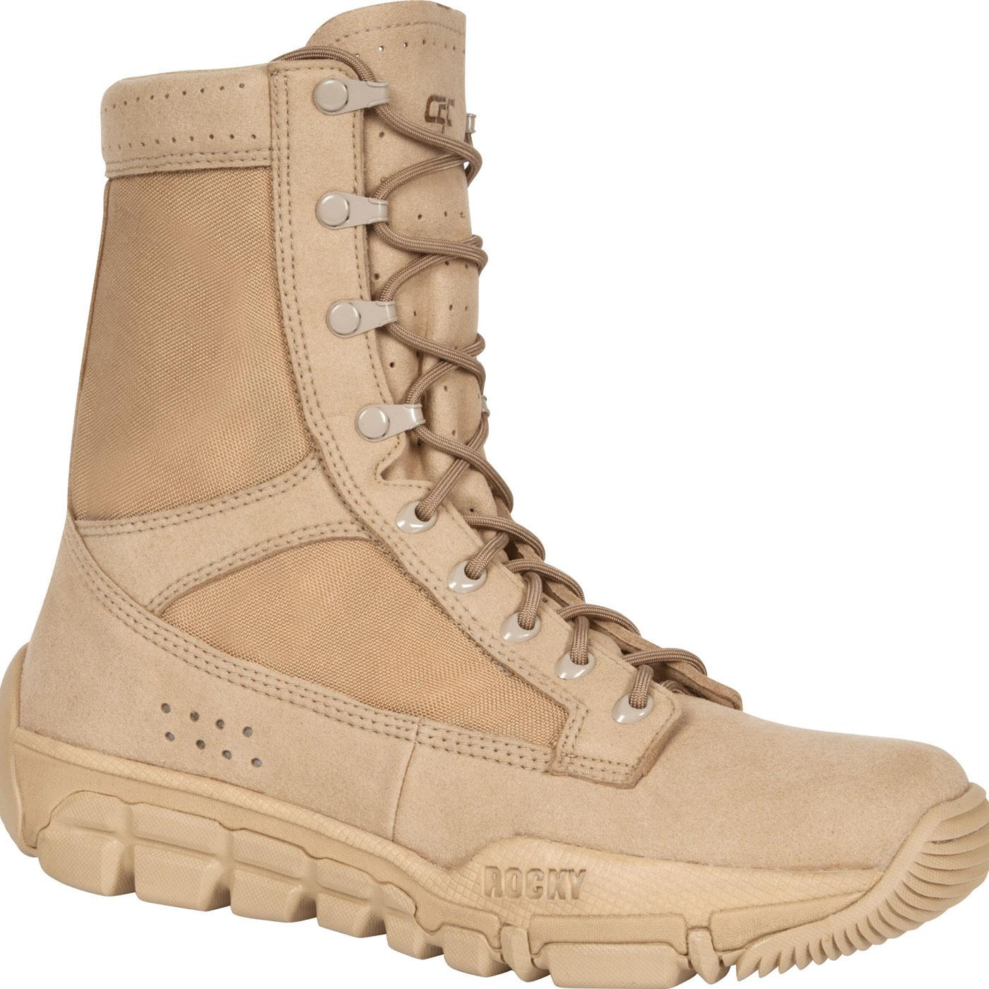 Rocky C5C Desert Tan Commercial Military Boots 2078ddf82