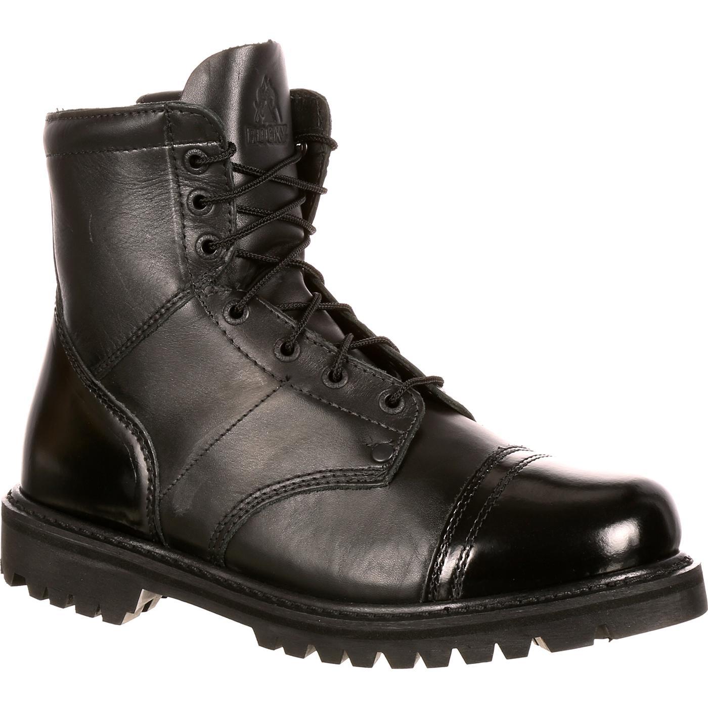37ccbaca7d8 Rocky Duty Boots: Men's Black Side Zipper 7-Inch Jump Boot