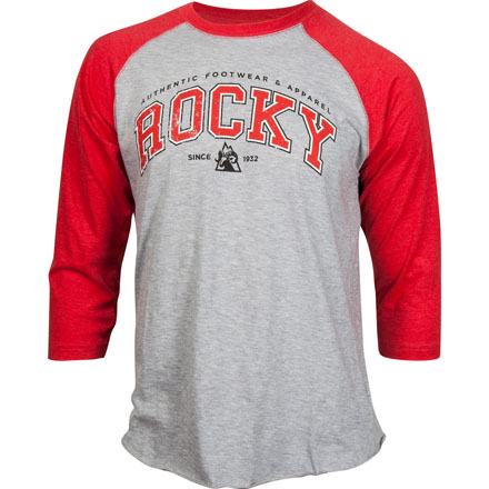 Rocky Youth Raglan Tee, GRAY/RED, large