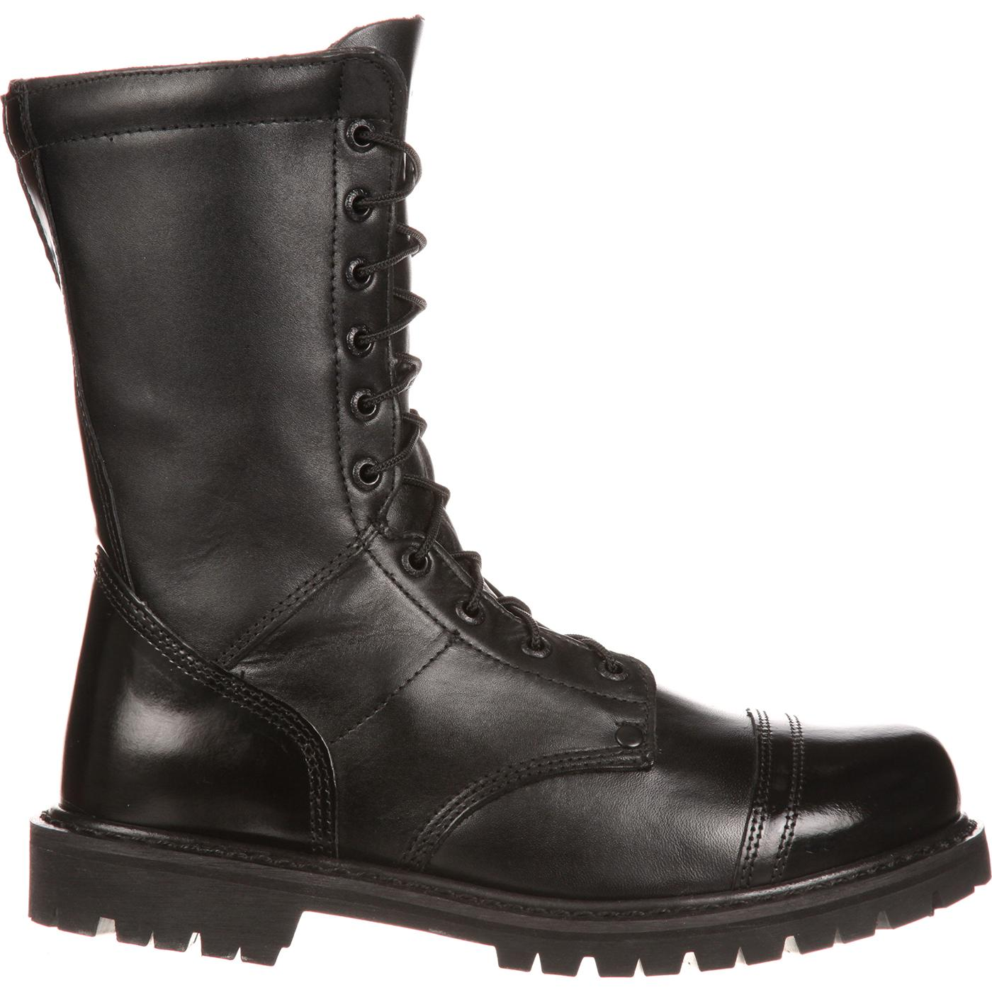 Rocky Duty Boots - Men's Side Zipper Paratrooper Boots