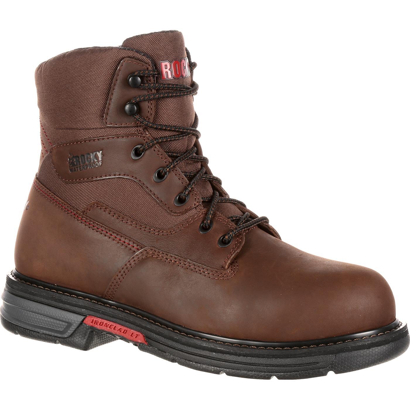 Rocky Ironclad LT: Men's Steel Toe Waterproof Work Boots