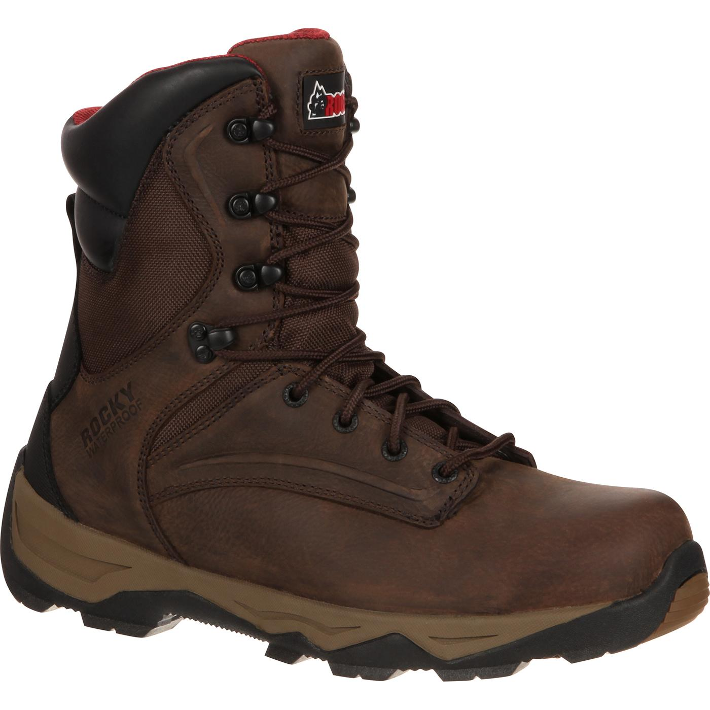 Rocky Retraction Steel Toe Waterproof Work Boot, , large