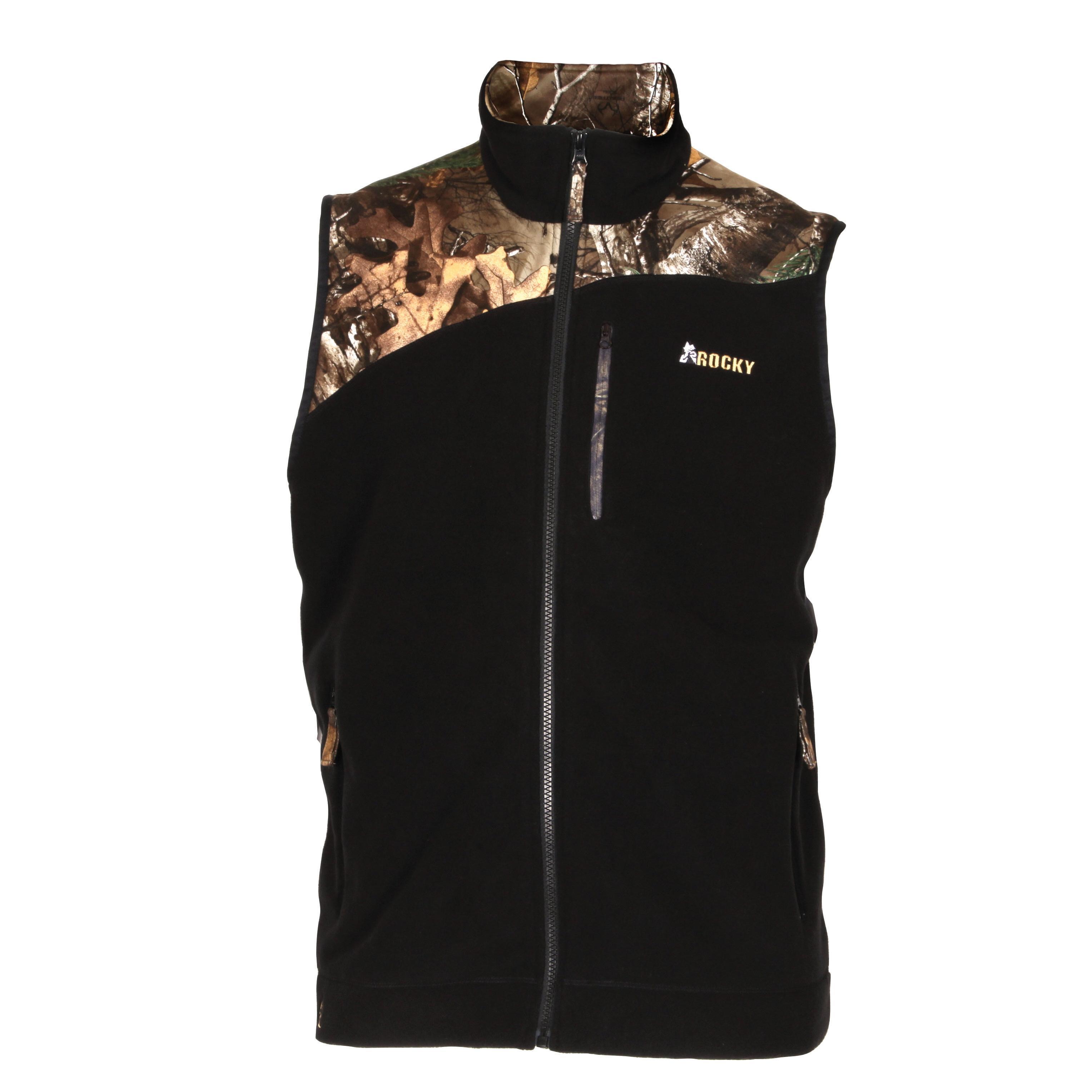 11f3c74d0790 Men s Full Zip REALTREE CAMO Fleece Vest - Rocky Boots LW00137