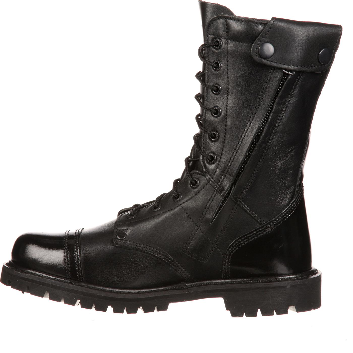 Rocky Duty Boots - Men's Side Zipper Paratrooper Boots