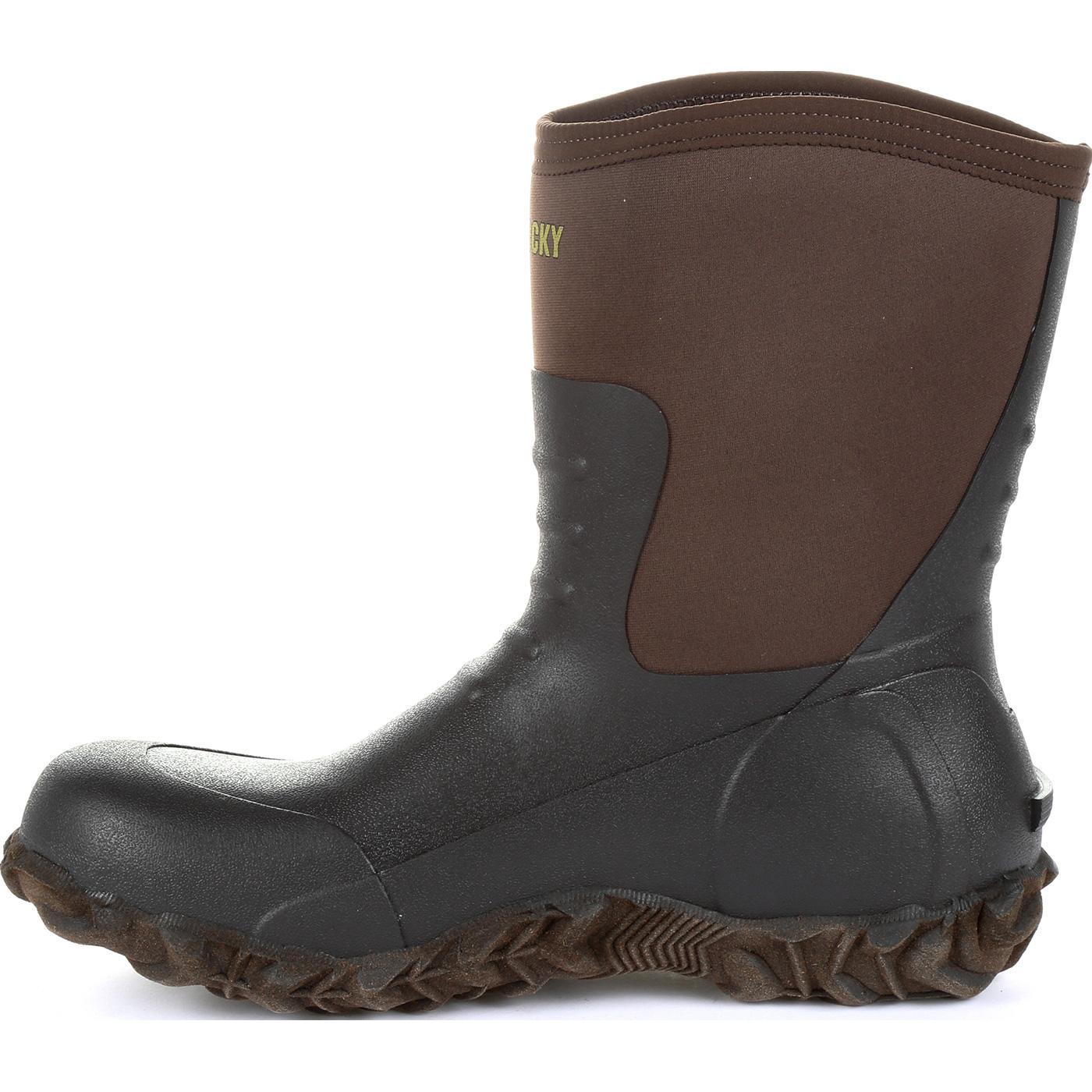 c8e6ce61a63 Rocky Core Chore Brown Rubber Outdoor Boot