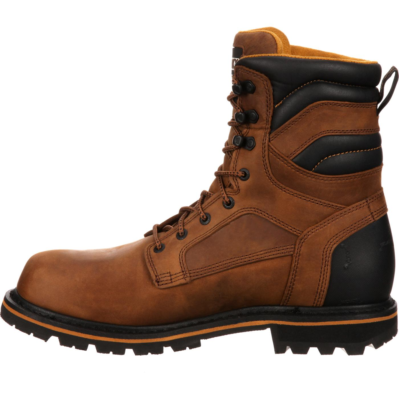 Rocky Mens Brown Boot Boots Governor 8 Insulated Gore Tex Work