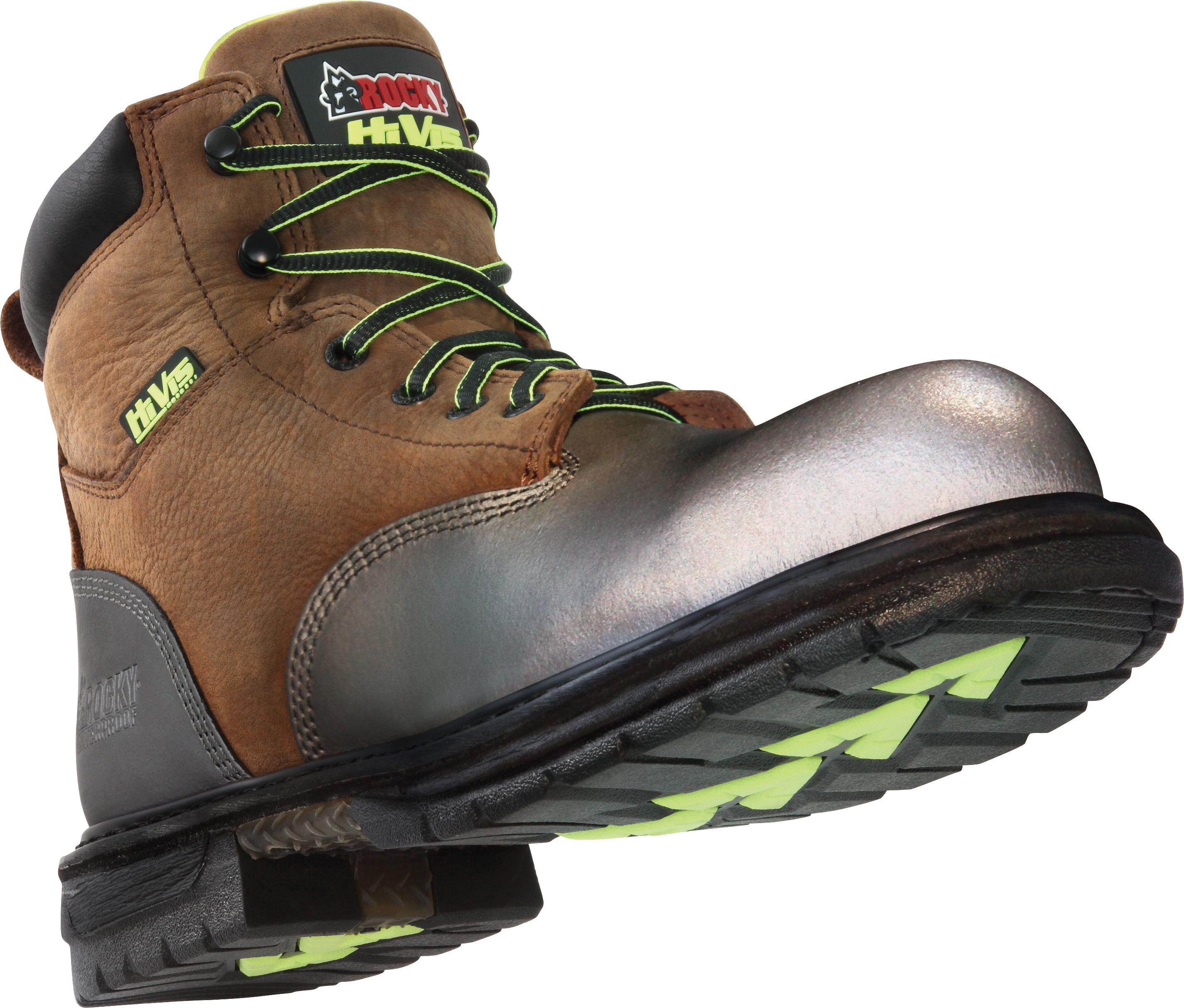 #6707 Rocky IronClad Steel Toe HiVis Waterproof Work Shoes