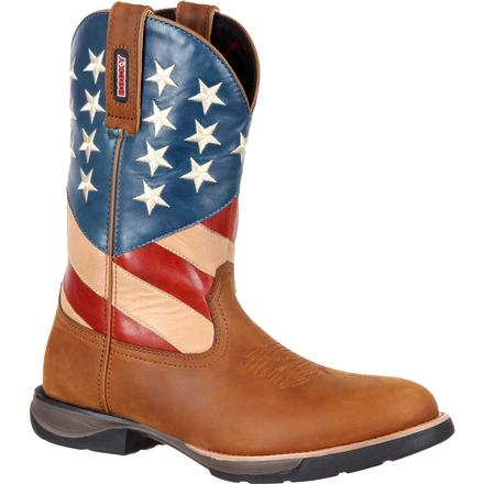 Rocky LT Western Flag Boot, , large