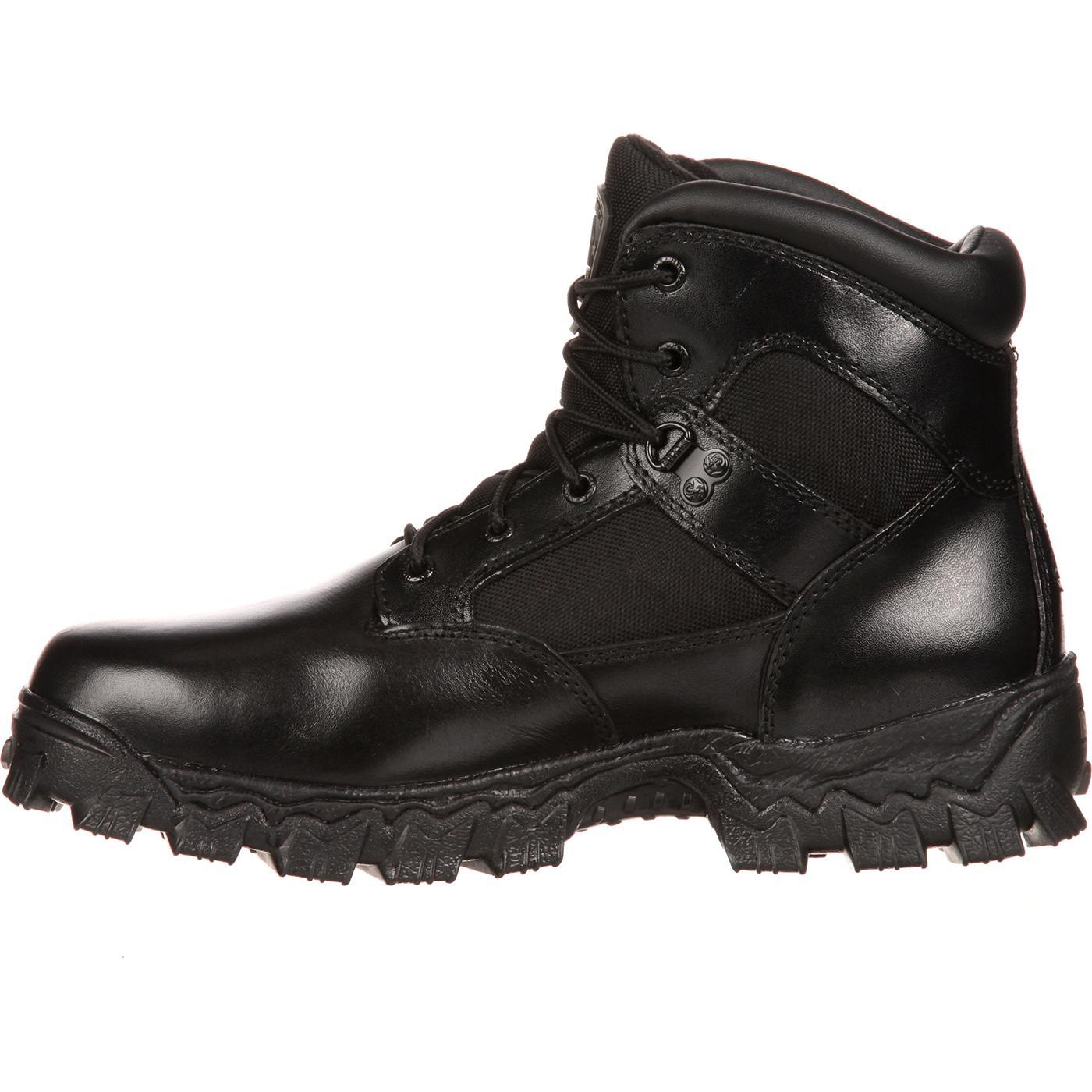 rocky s 6 quot waterproof black duty boots style 2167