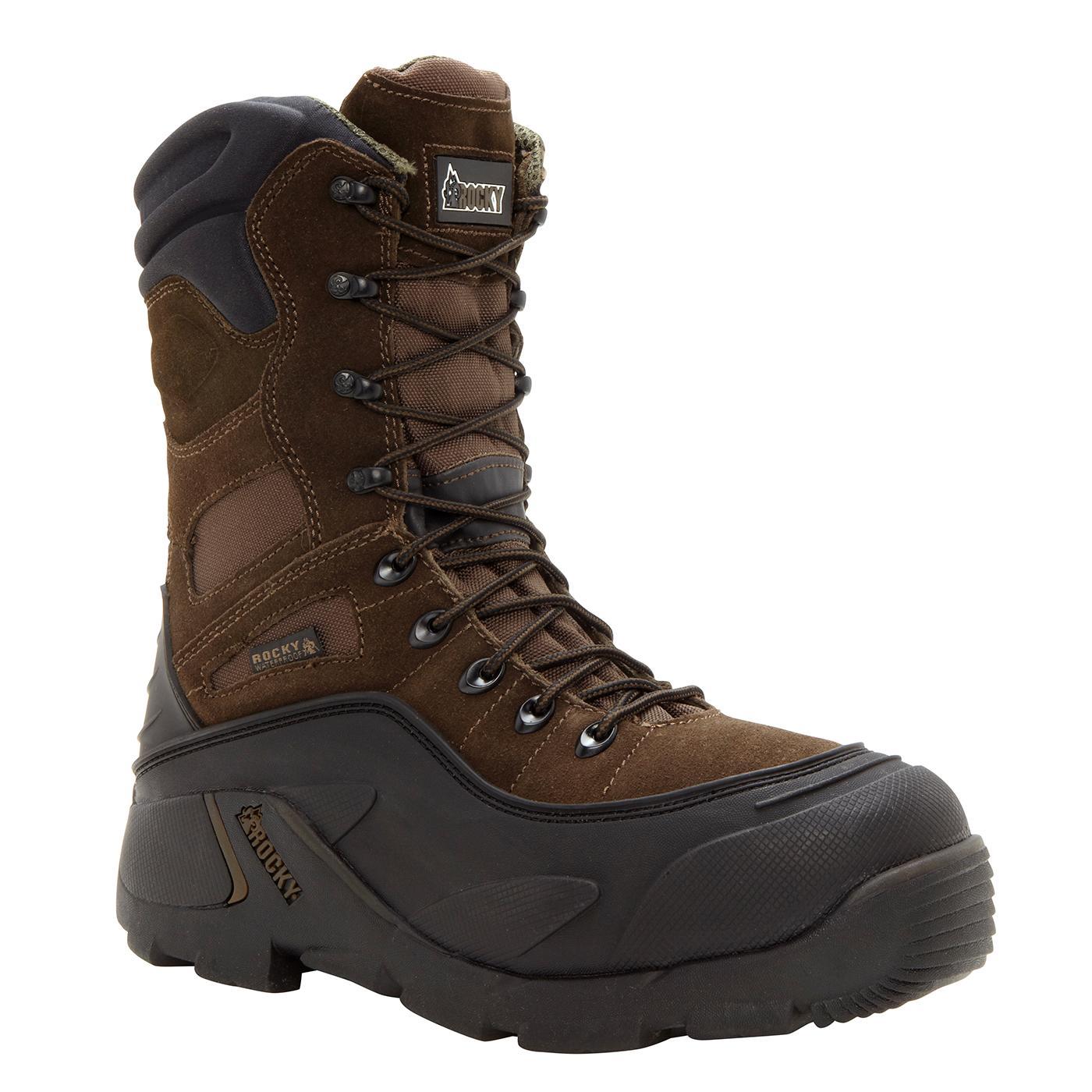 Men S Steel Toe Waterproof Insulated Work Boot The Rocky