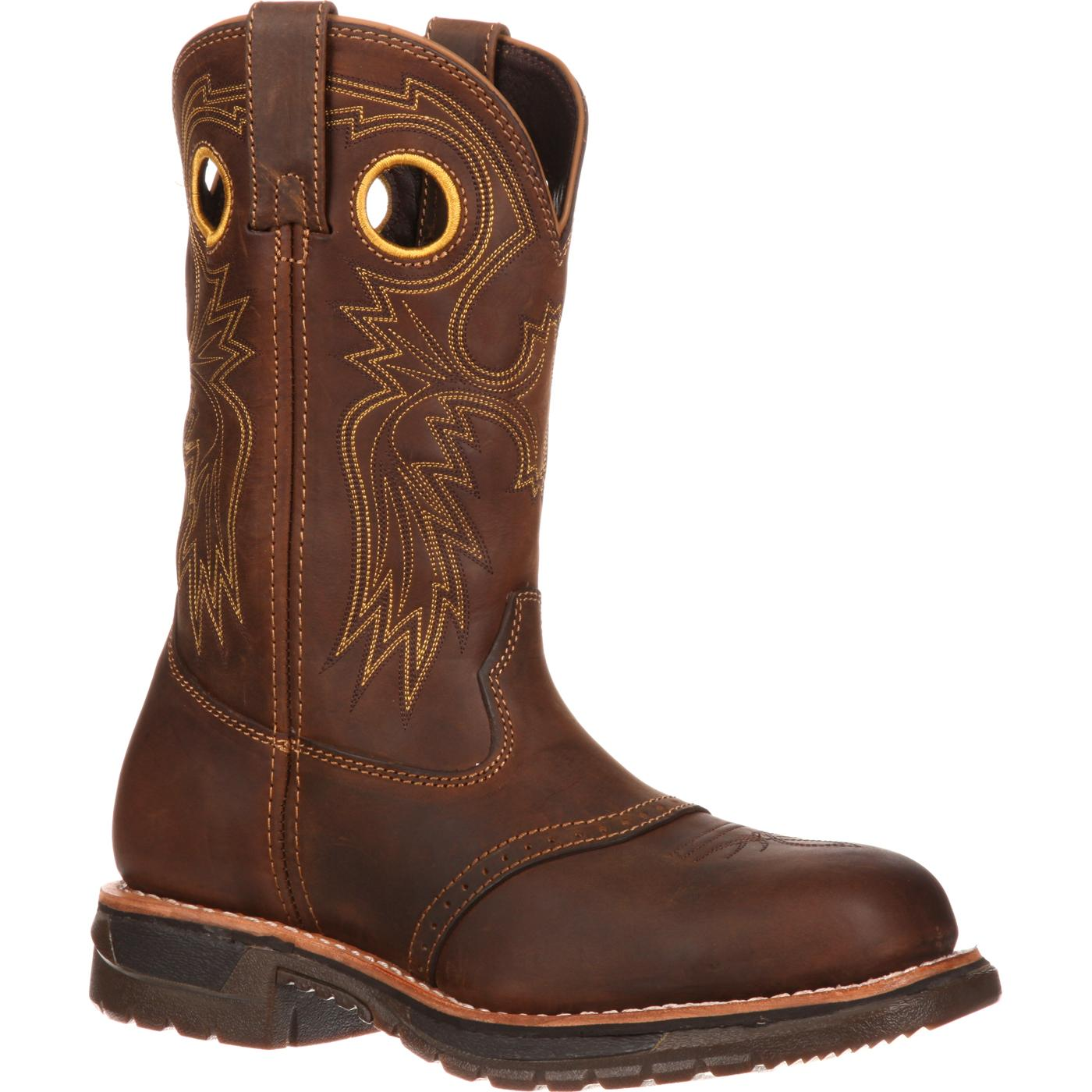 Rocky Original Ride Men's ... Steel-Toe Western Work Boots tpJGq0