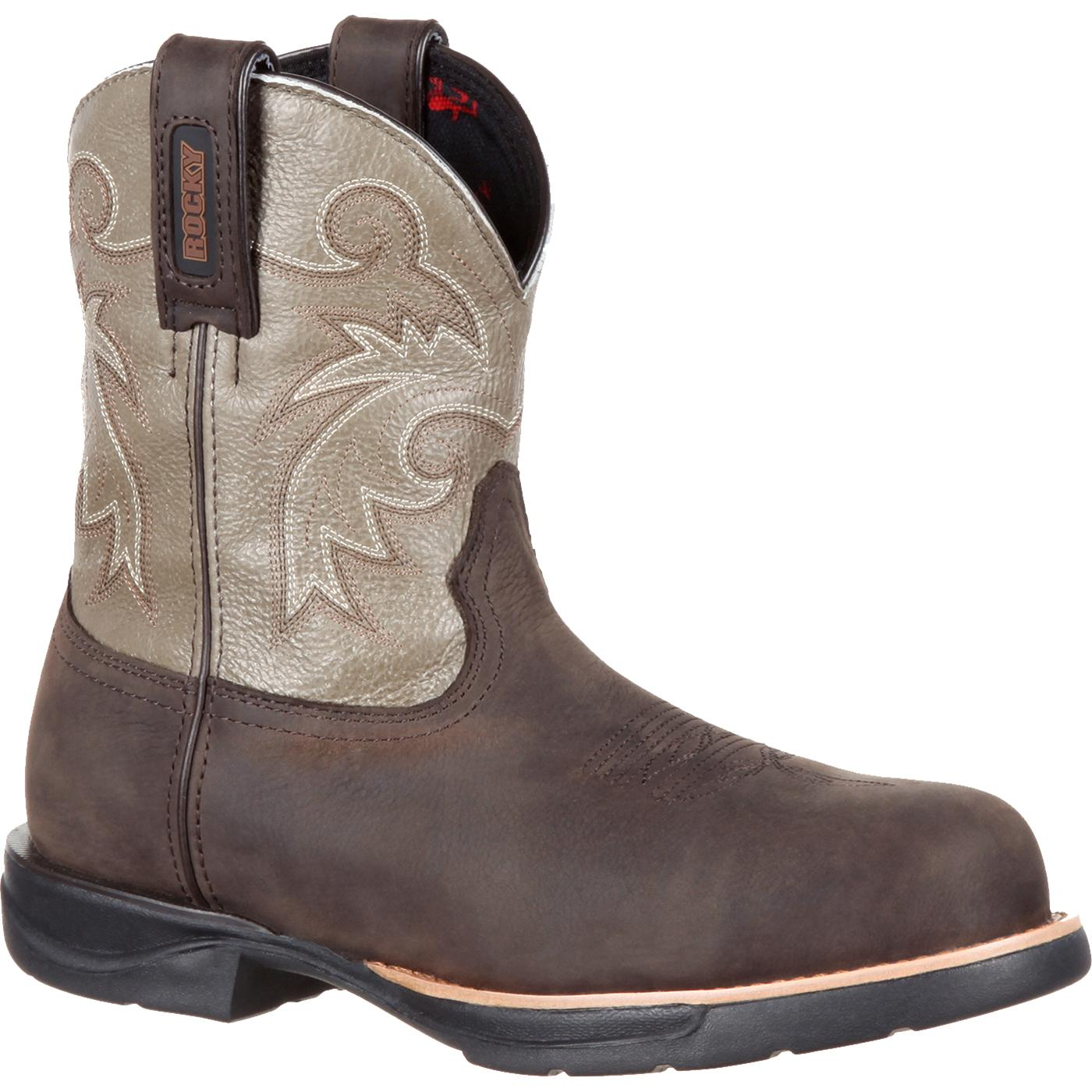 Rocky LT - Women's Brown-Cherry Pink Saddle Western Boots