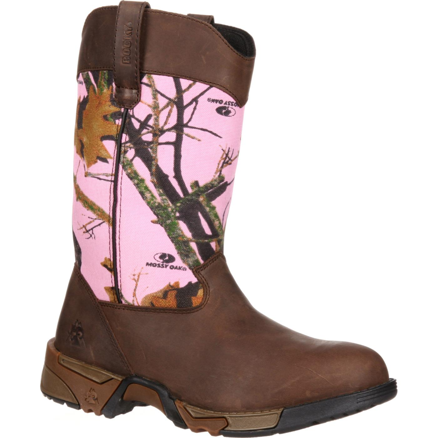 Rocky Women's Aztec Pink Camouflage Boot, style #RKYS133