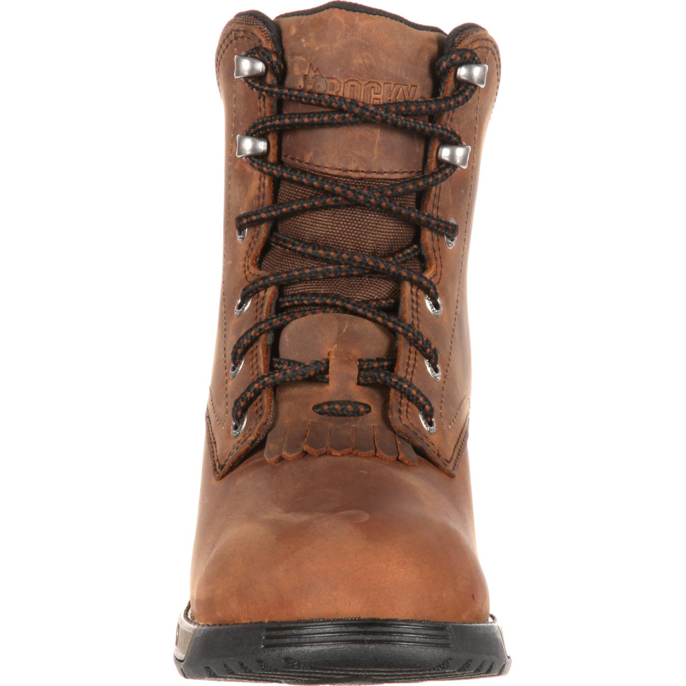 Rocky Women S Aztec Brown Lace Up Work Boot Style Rkk0137