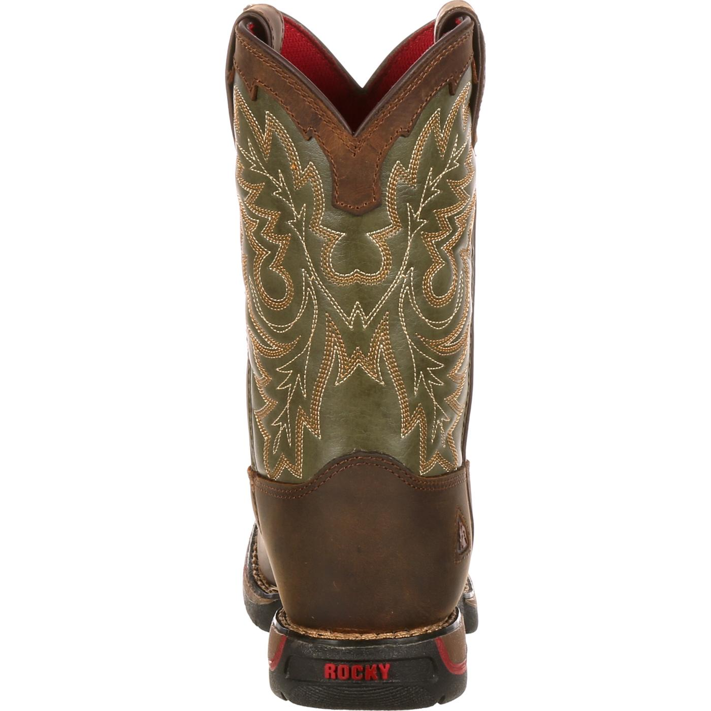 445a643bf64 Rocky Little Kid Long Range Square Toe Western Boot