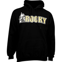 Rocky Logo Men's Hoodie, BLACK, medium