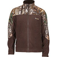 Rocky SilentHunter Fleece Jacket, Brown w/RLTRE XTRA, medium