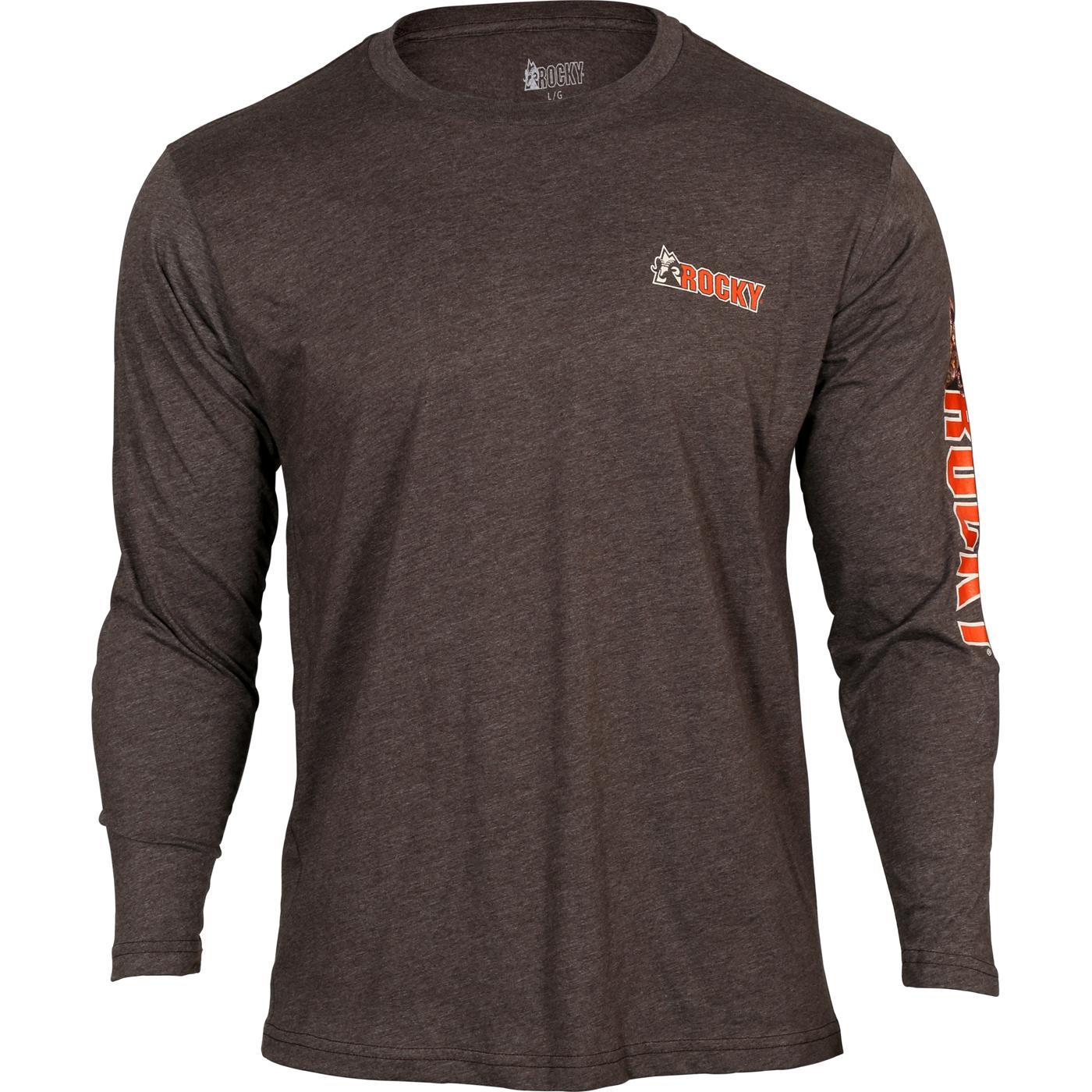 Rocky  Men s Logo Soft Long-Sleeve T-Shirt with Camo Ram 17f6153f3ce