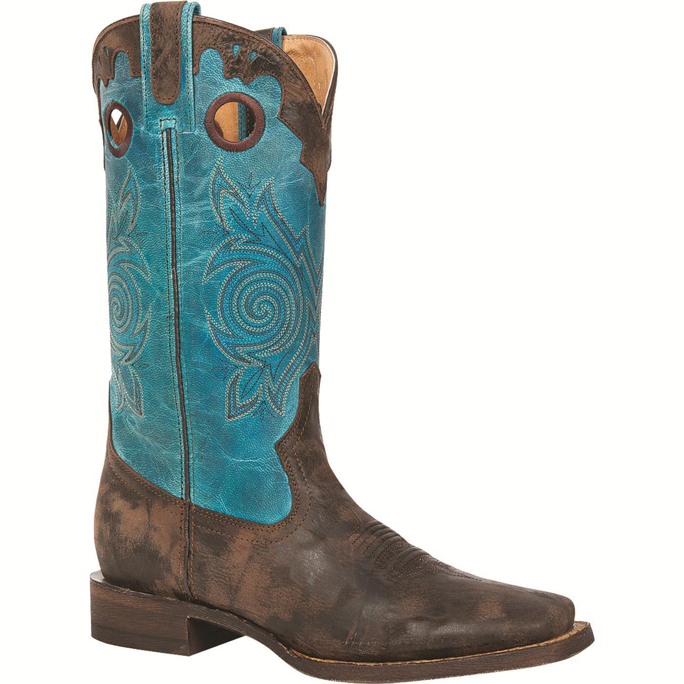 71c9551bff9 Rocky Women's HandHewn - Square Toe Western Boot