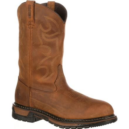 Rocky Original Ride Branson Roper Waterproof Western Boots, , large