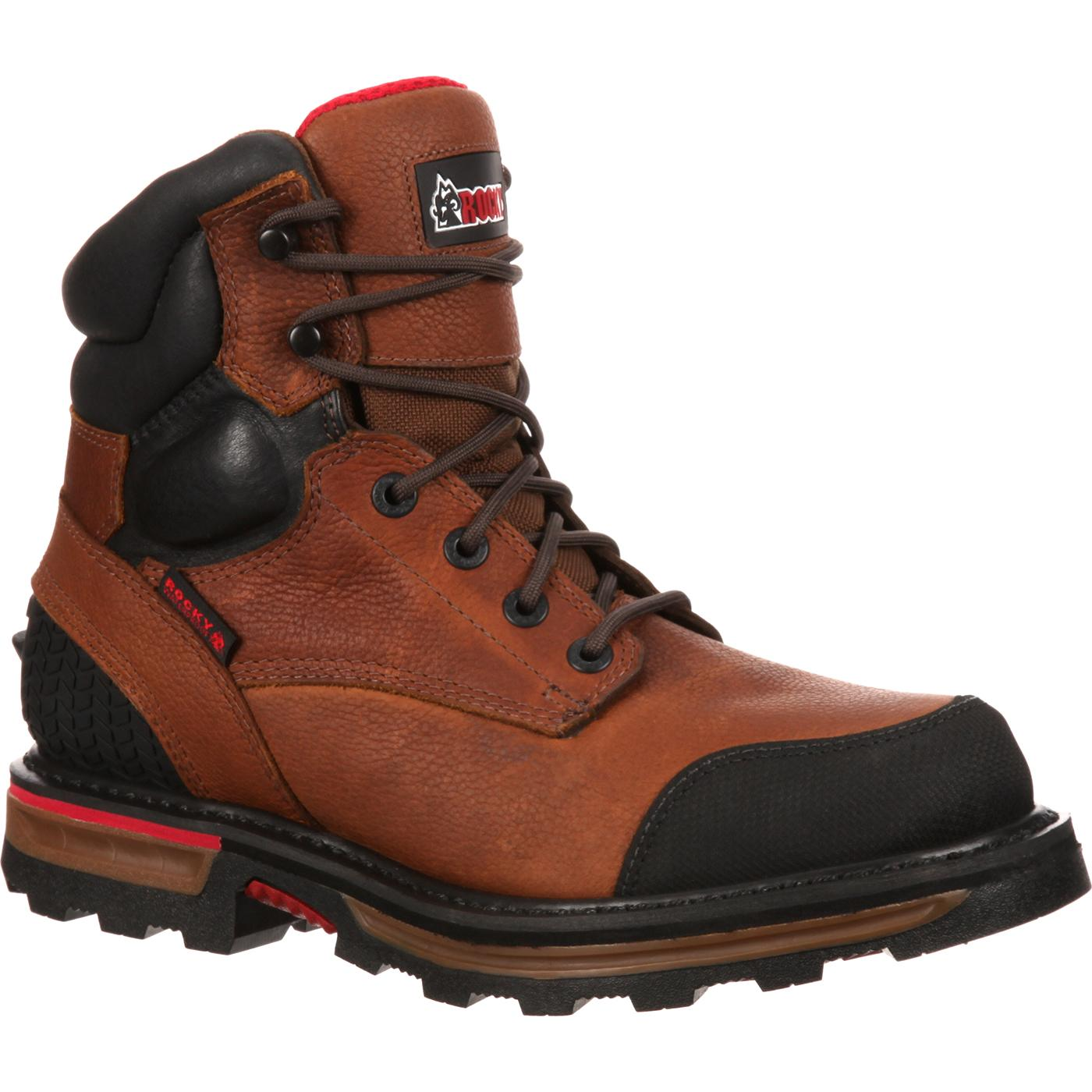 rocky elements dirt steel toe waterproof work boot rkyk074