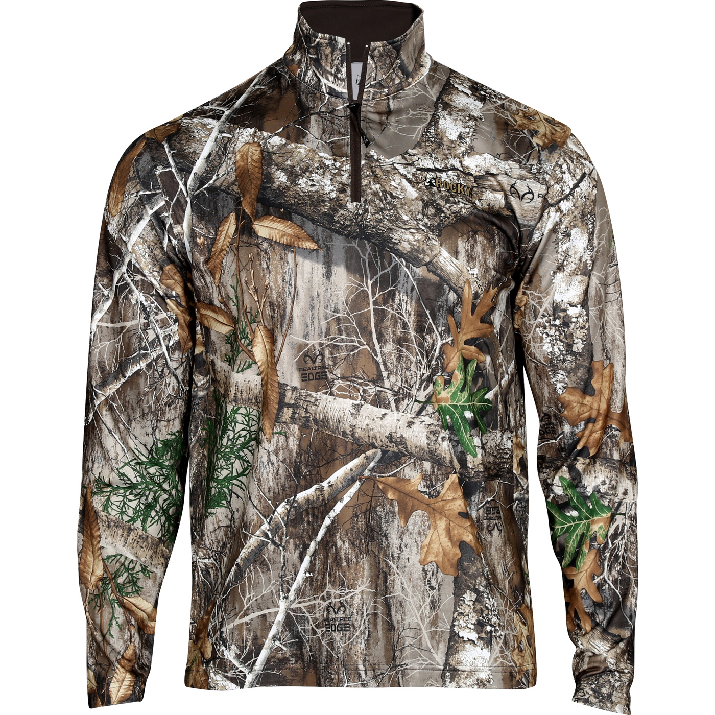 ac383bb810204 Rocky Camo Fleece Zip Shirt, Realtree Edge, large