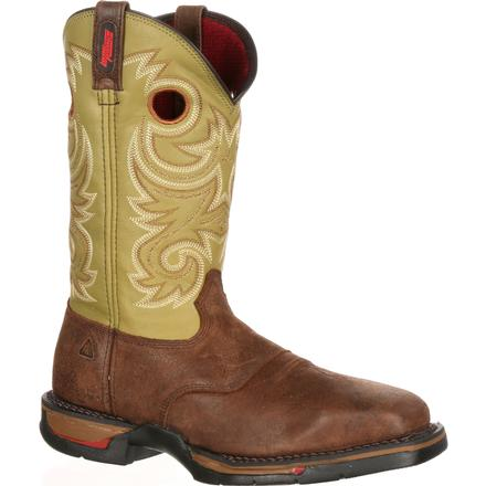 Rocky Long Range Steel Toe Western Boot, , large