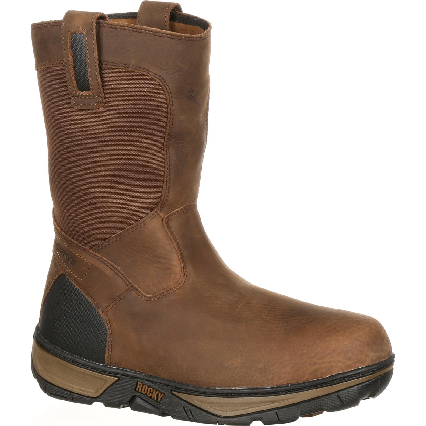 Rocky Forge Men S Waterproof Wellington Work Boot Rk029