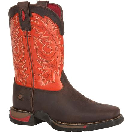 Rocky Kid's Long Range - Square-Toe Western Boot, , large
