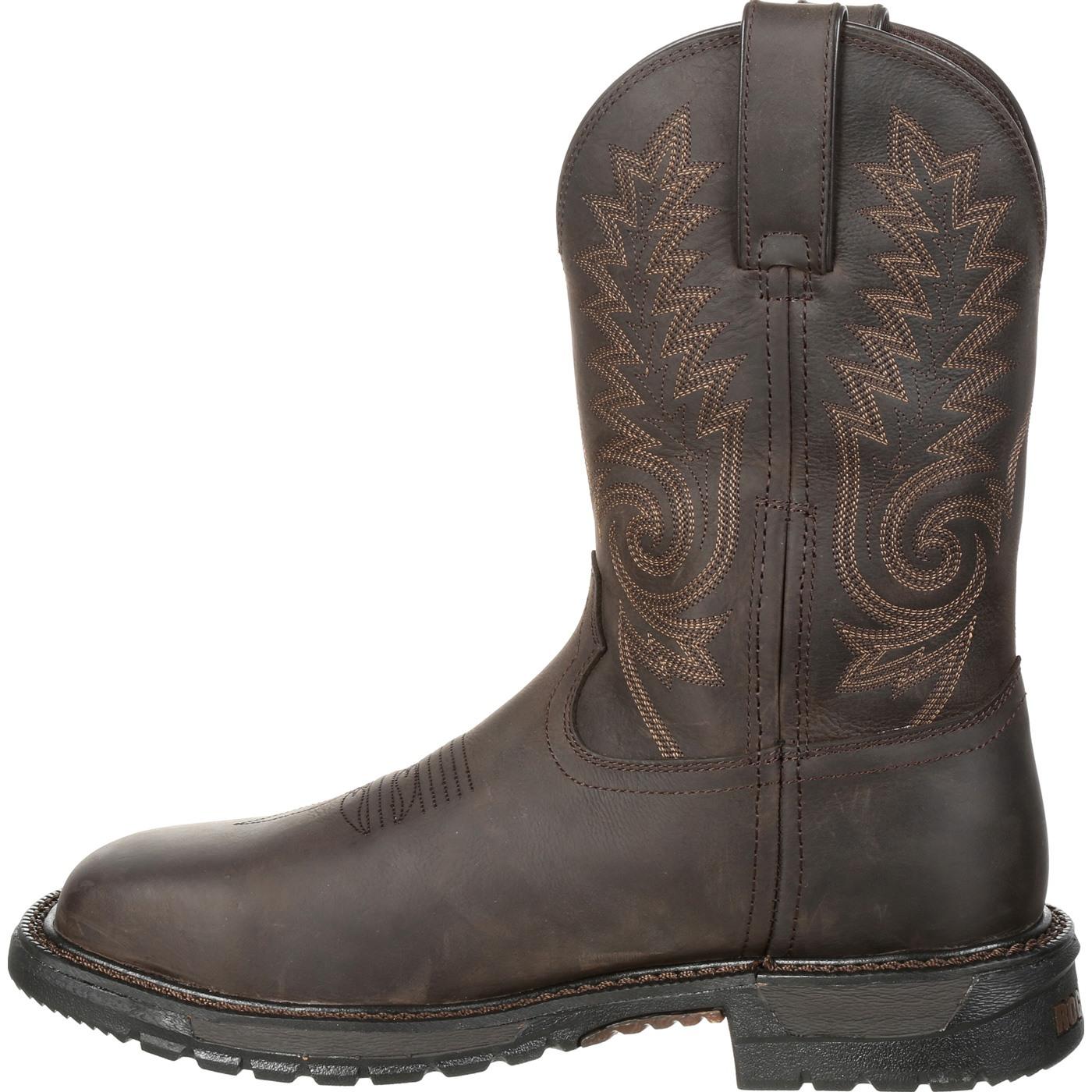 ef3e760b48f Rocky Original Ride FLX Steel Toe Waterproof Western Boot