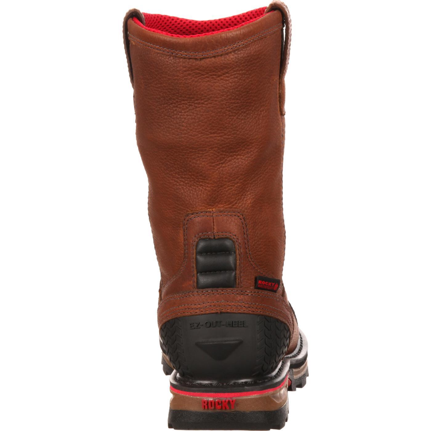 06d9d4fa4a4 Rocky Elements Dirt Steel Toe Waterproof Wellington Work Boot